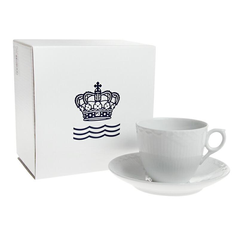 ロイヤルコペンハーゲン ホワイトハーフレース コーヒーカップ&ソーサー[L] 128-071