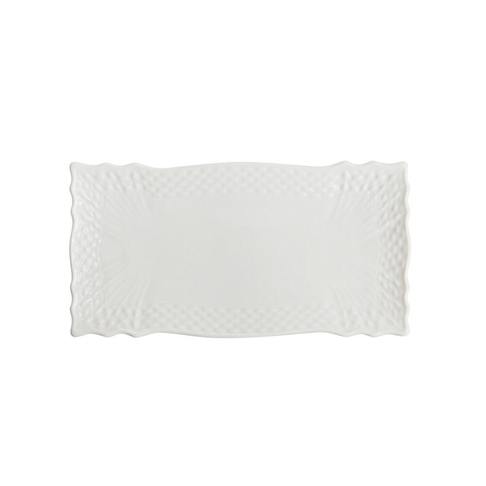 リチャード・ジノリ ベッキオホワイト 長方形 ミニトレイ 15.5×8cm
