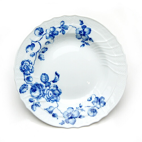 リチャード・ジノリ ローズブルー スーププレート 24cm 02-0180