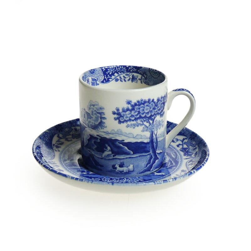 スポード (Spode) ブルーイタリアン コーヒーカップ&ソーサー