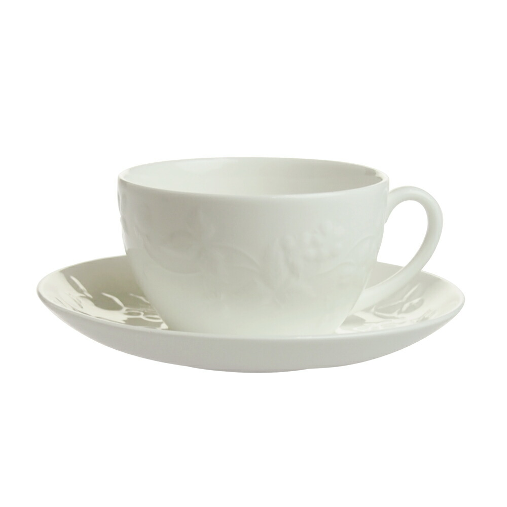ウェッジウッド ワイルドストロベリー ホワイト ティーカップ&ソーサー