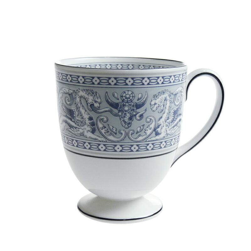 ウェッジウッド (WEDGWOOD) フロレンティーン インディゴ ホワイト マグカップ リー