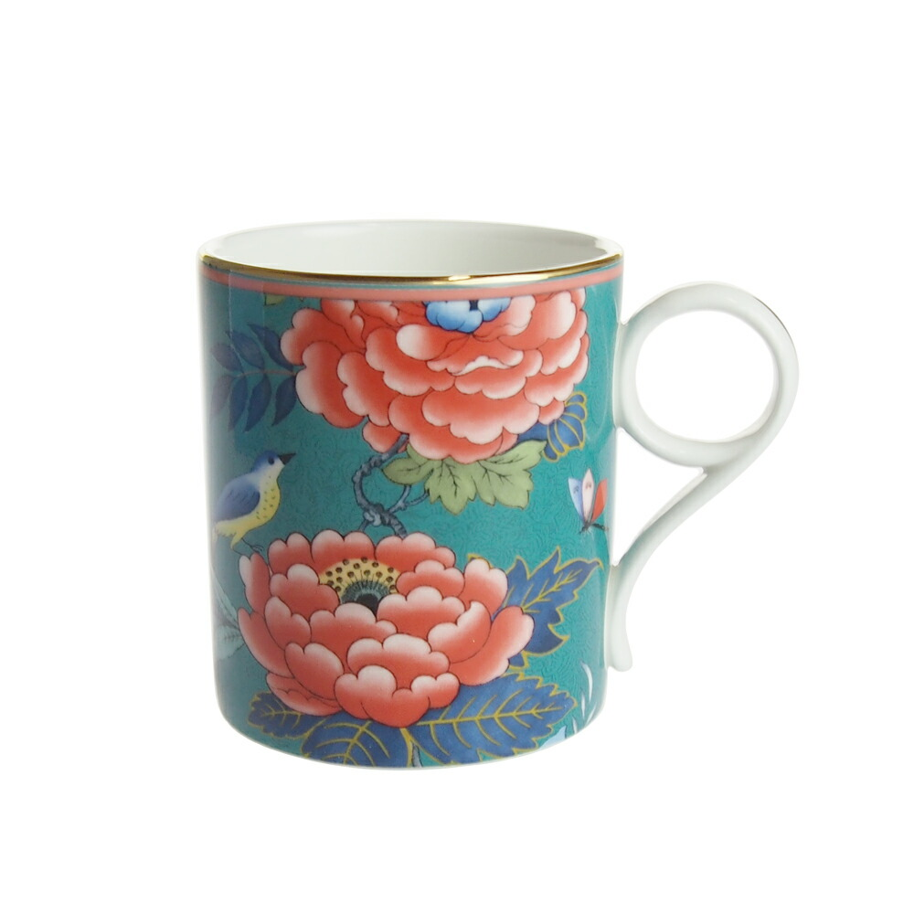 ウェッジウッド (WEDGWOOD) ペオニア ブラッシュ マグカップ グリーン