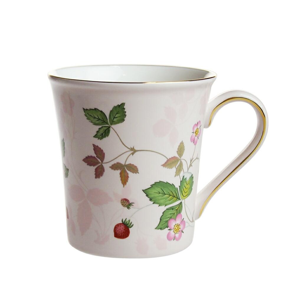ウェッジウッド ワイルドストロベリー パステル ビーカー マグカップ ピンク