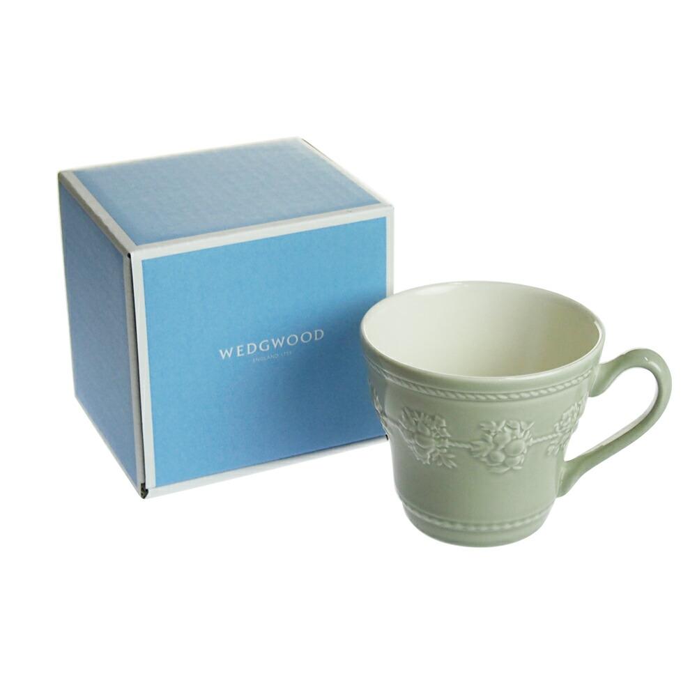 ウェッジウッド (WEDGWOOD) フェスティビティ セージグリーン マグカップ