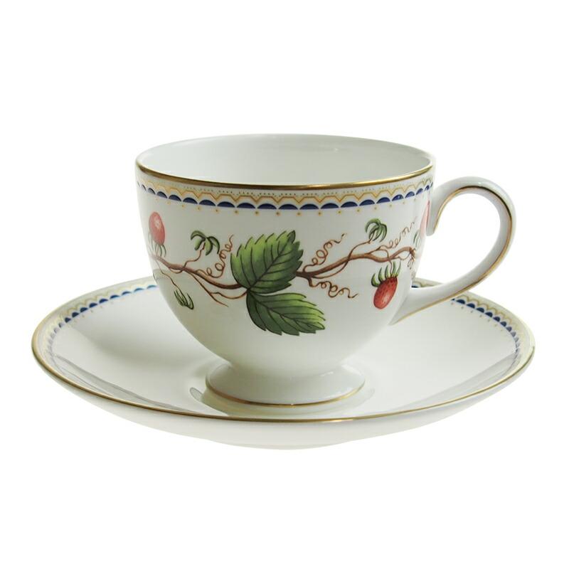 ウェッジウッド ワイルドストロベリーアーカイブ ティーカップ&ソーサー リー
