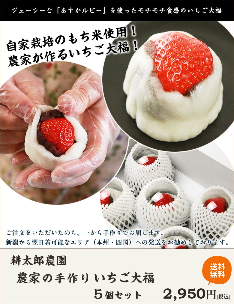 耕太郎農園の苺大福