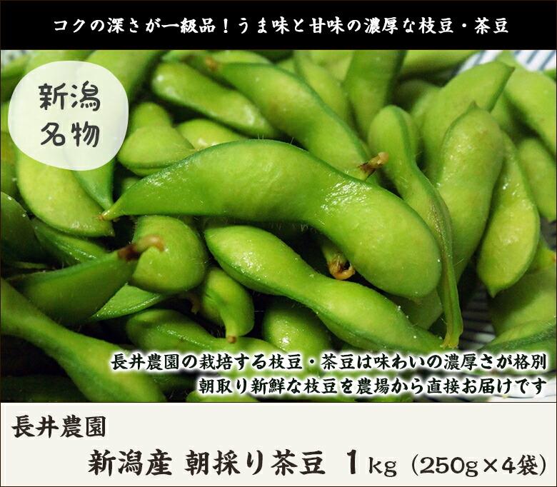 長井農園 茶豆