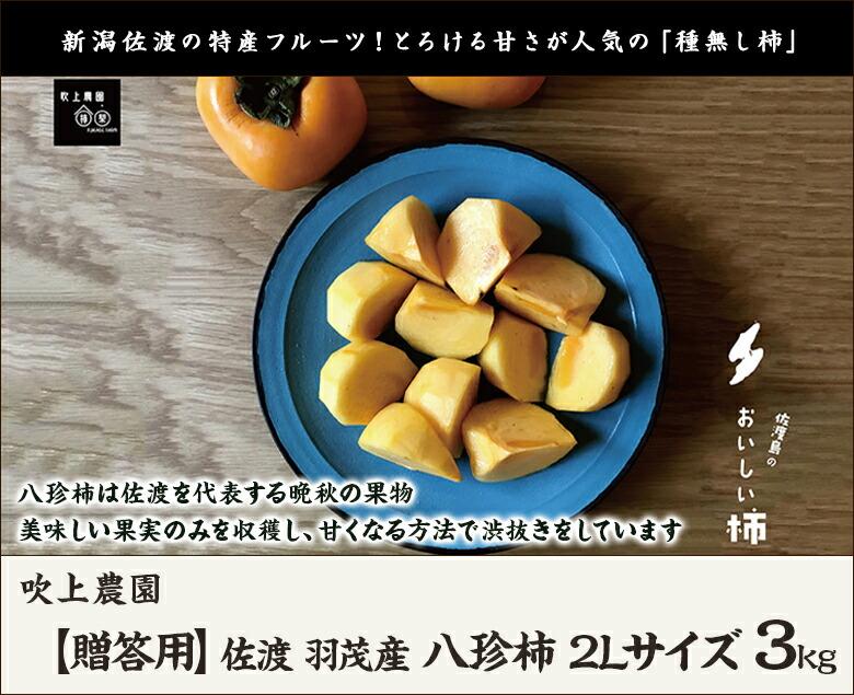 吹上農園 八珍柿2L 3kg