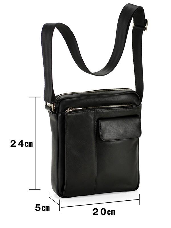 HAMILTON 本革 縦型ショルダーバッグ メンズ 20cm #16401