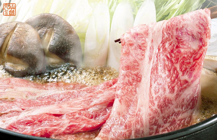 仙台黒毛和牛のすき焼き。