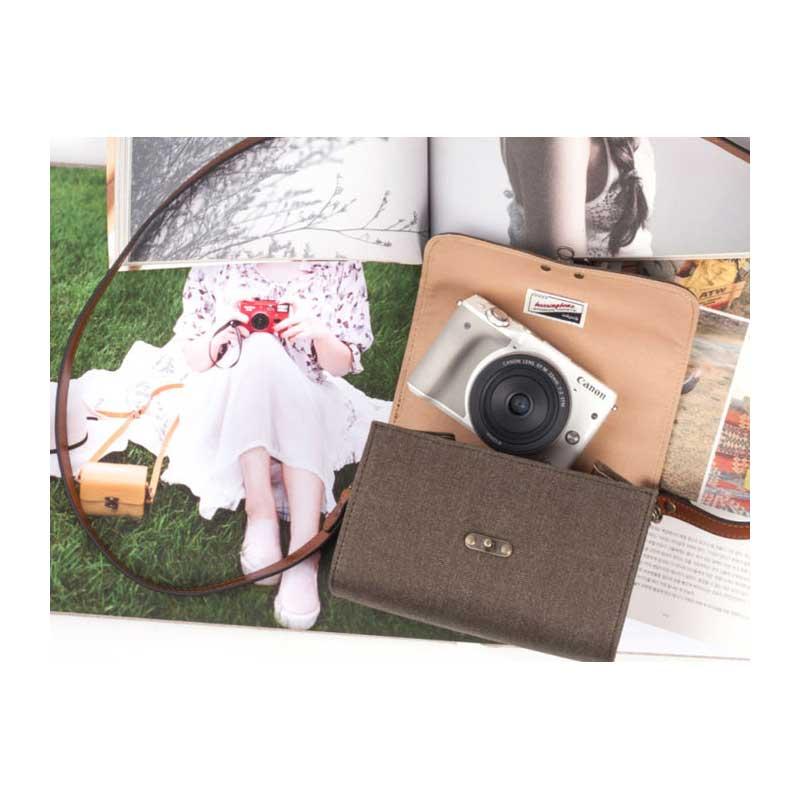 Herringbone/おしゃれショルダーカメラバッグ