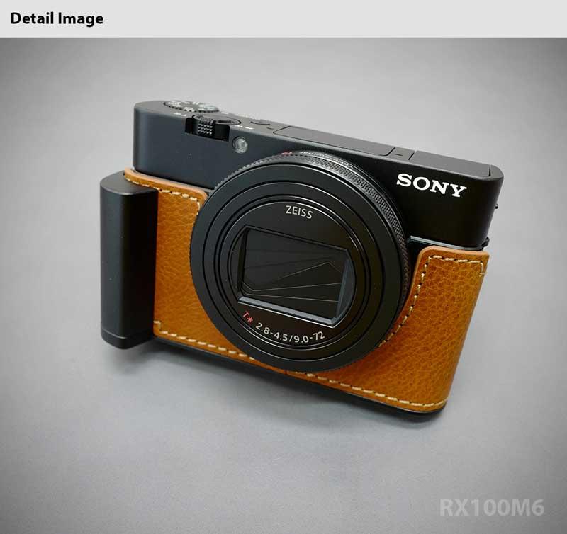 TP Handmade Genuine Real Leather Half Camera Case Bag Cover for SONY RX100 V IV III II M5 M4 M3 M2 MARK V Brown Color