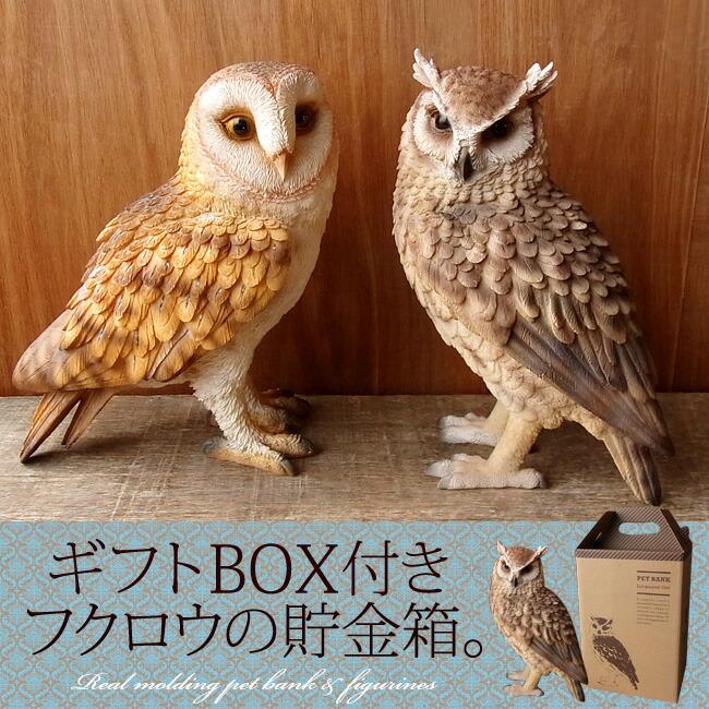 Nini And Quino Owl Real Piggy Piggy Realistic Owl Quot Rakuten
