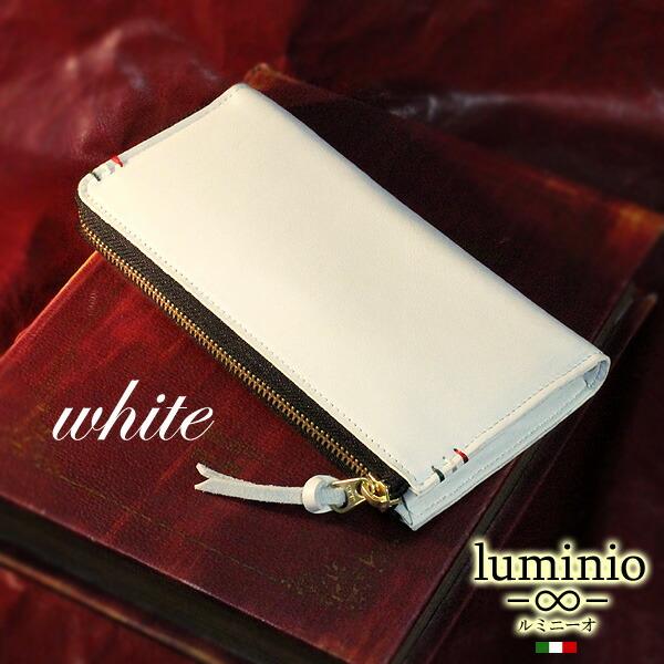 2dc5b7cb4ca5 イタリアデザインで定評のあるluminioから本格派の財布のご紹介です。 厳選牛革を表と中に贅沢に使用した大人なイメージのL字ラウンドロングウォレット。