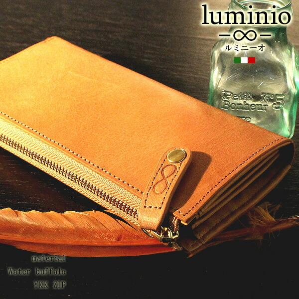 29444ab0fc18 ランキング常連のイタリアンデザインで定評のあるluminioから水牛を使用した贅沢な長財布の入荷です。 人気のL字ファスナー長財布をバッファローレザーで仕上げた逸品  ...
