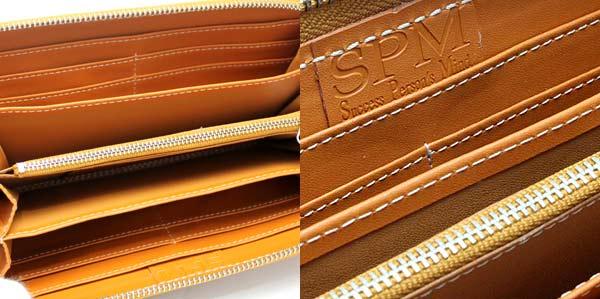 43b3df5bcfd2 特価:7,980円(税込) ブランド名:SPM(エスピーエム)  素材・成分:水牛革(バッファローレザー)、PVC、他カラー:キャメルサイズ:(約)縦10.5cm、横21cm、 ...