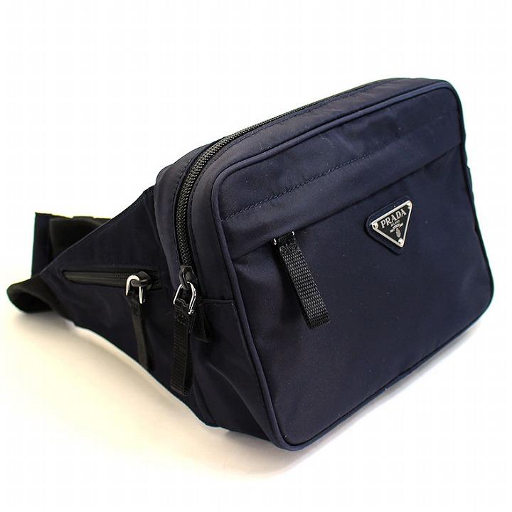 a69140b2eda3 ブランド名:プラダ/PRADA 商品:バッグ品番:2vl001-tesmo-bleu カラー:ネイビー素材:ナイロン×レザー サイズ(約):本体:縦16cm×横21cm×マチ5cm ...