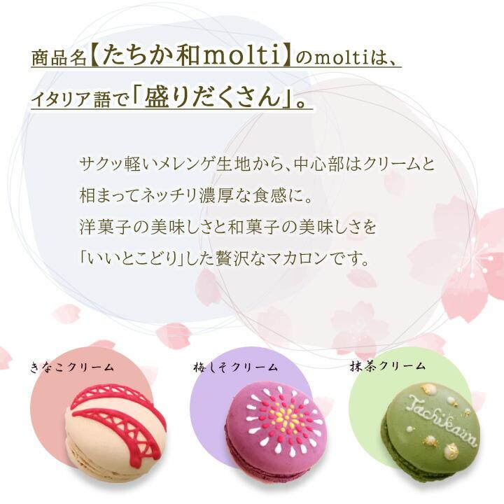 商品名「たちか和molti」のmoltiは、イタリア語で「盛りだくさん」。