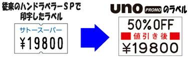 SPとUNO PROMOのラベル比較