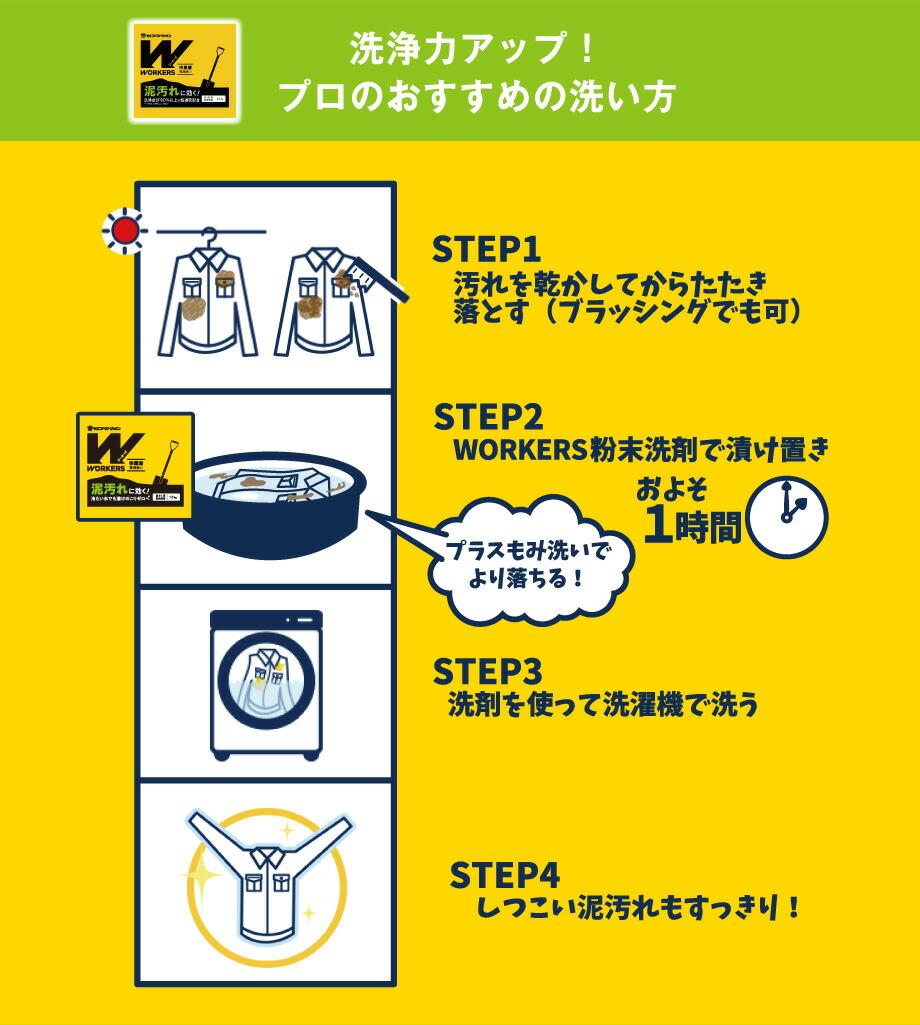 WORKERS作業着専用洗い 粉末洗剤