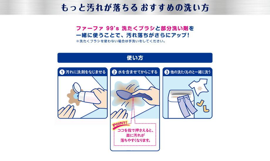 ファーファ キューキューズ 部分洗い剤 食べこぼしセット