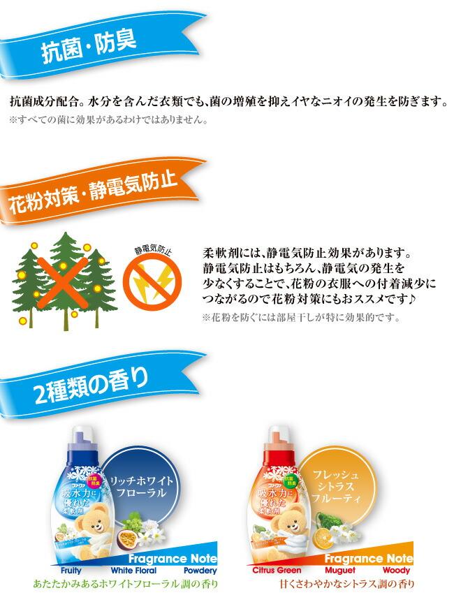 抗菌・防臭 花粉対策・静電気防止 2種類の香り