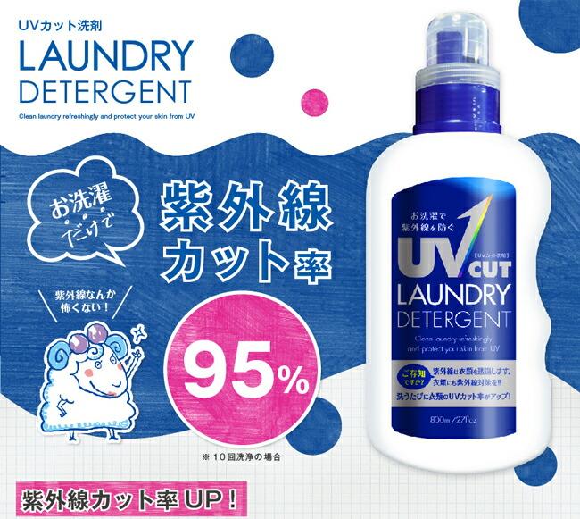 お洗濯だけで紫外線カット率95%!※10回洗浄の場合