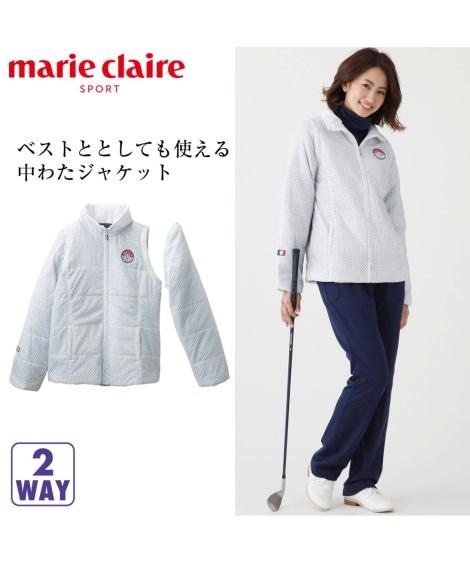 スポーツウェア・フィットネスウェア|marieclaireSPORT 2WAYはっ水・保温中わたジャケット  M〜3L ニッセン nissen