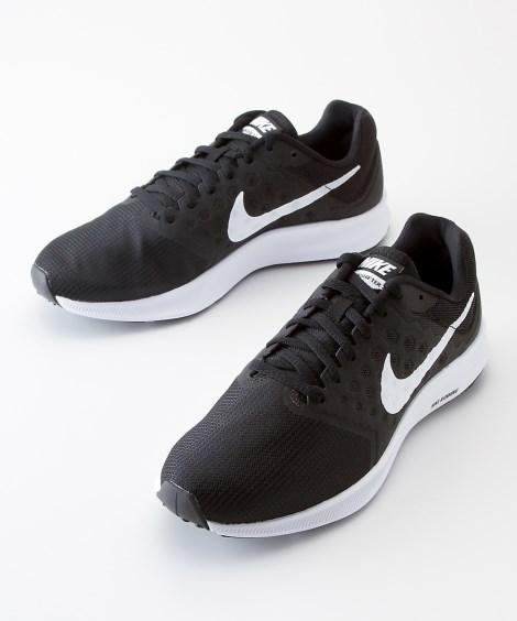 靴(シューズ)|ナイキ ダウンシフター7(メンズ) ニッセン nissen(ブラック×ホワイト)