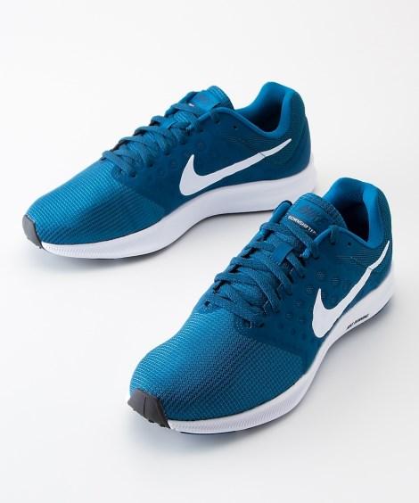 靴(シューズ)|ナイキ ダウンシフター7(メンズ) ニッセン nissen(ブルーグリーン×ホワイト)
