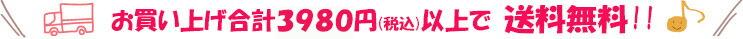 お買い上げ合計3980円(税込)以上で送料無料!!