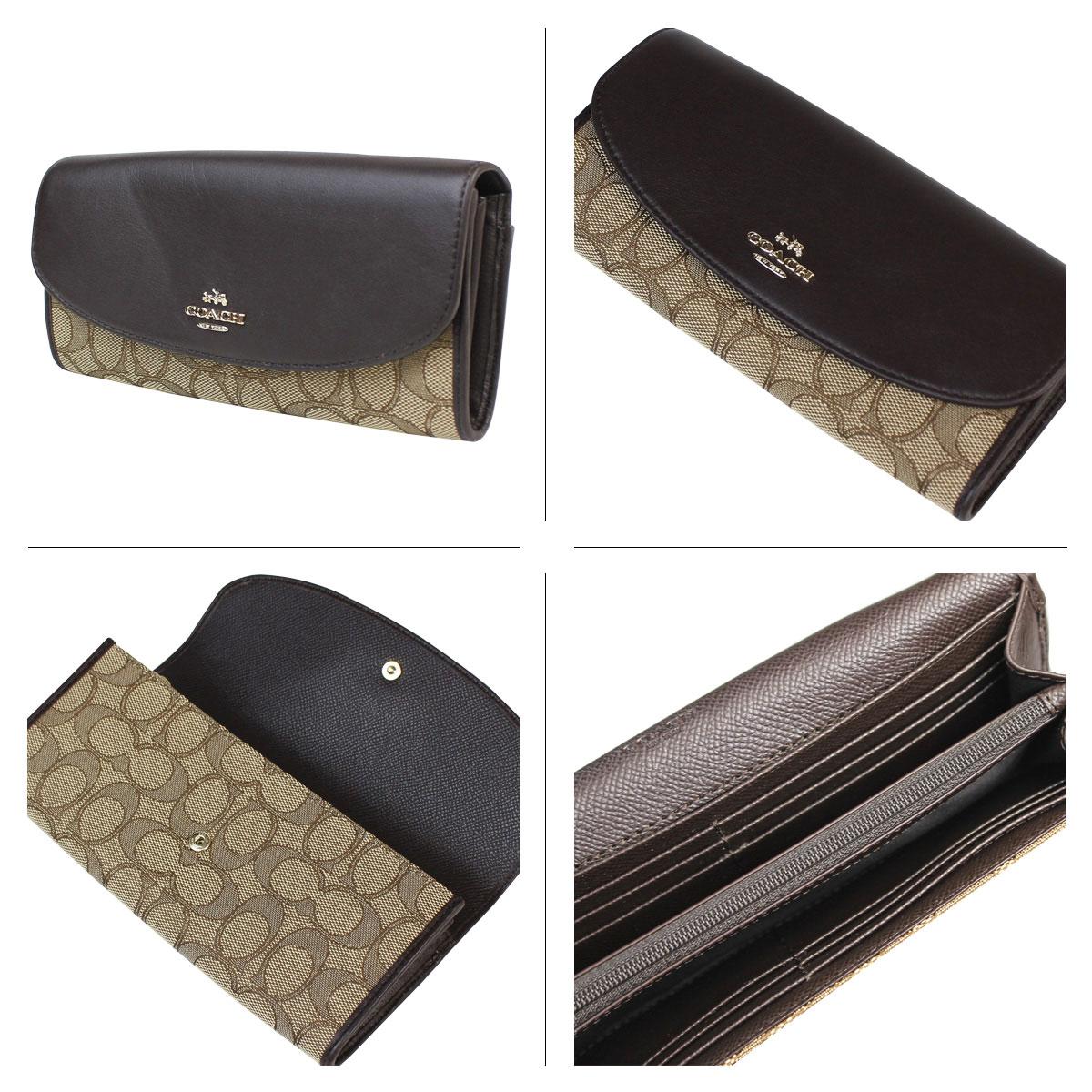 online store eaff8 b0406 COACH 53538 卡其/棕色織布&皮革長夾--售出@ usa4umall 的美國 ...