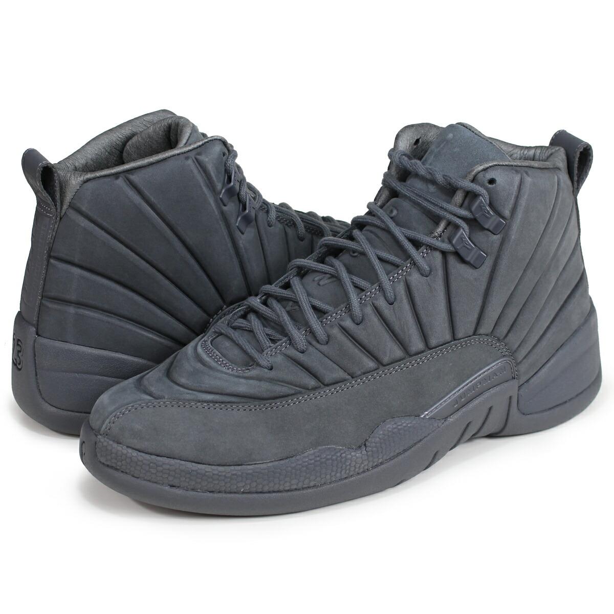 watch 31cf0 be7bc NIKE AIR JORDAN 12 RETRO PSNY Nike Air Jordan 12 nostalgic sneakers  130,690-003 gray [187]