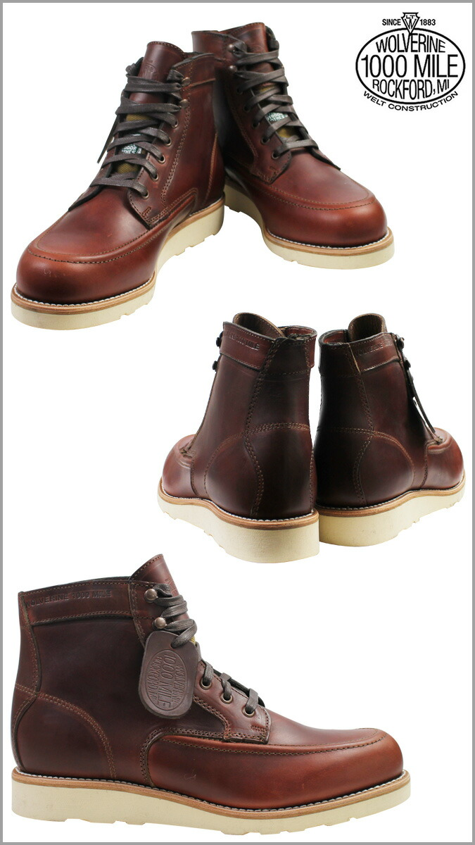 6f0b26daee9 WOLVERINE×FILSON Wolverine 1000 mile Emerson wedge [last] 1000 MILE EMERSON  WEDGE leather mens boots BOOTS Filson W00283 [4 / 5 new in stock] ...