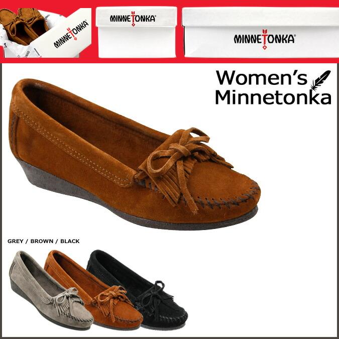 4e7b8eda77a ALLSPORTS  Minnetonka MINNETONKA women s moccasin Kirti wedge WEDGE ...