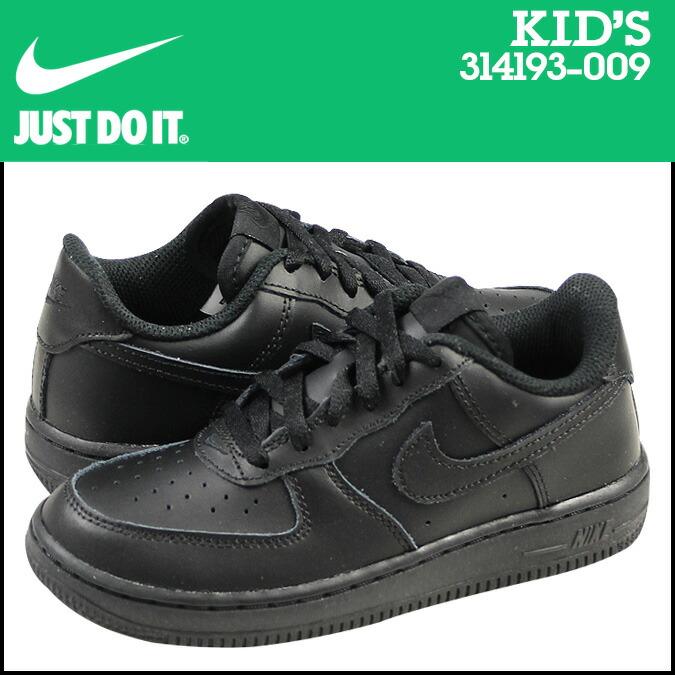 Nike NIKE air force 1 kids sneakers AIR FORCE 1 LOW PS low 314,193 009 black [192]