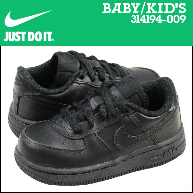 sports shoes 3499b ca9a9 Nike NIKE air force 1 baby sneakers AIR FORCE 1 LOW TD 314,194-009 black  [192]