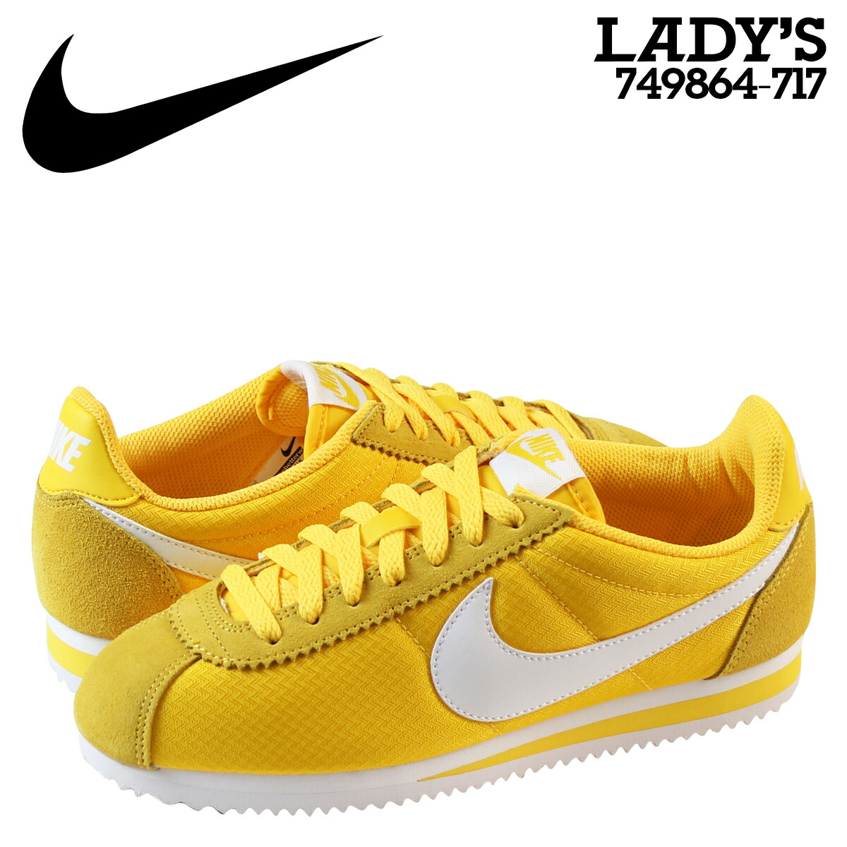 ALLSPORTS   SOLD OUT  Nike NIKE classic Cortez sneakers Womens WMNS CLASSIC  CORTEZ NYLON 749864-717 shoes yellow  2a620e50d