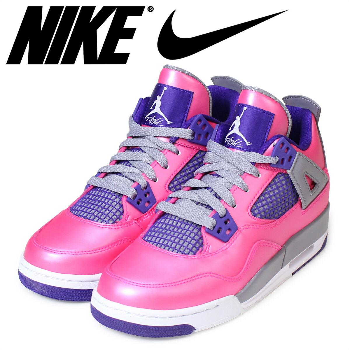 ナイキNIKEエアジョーダンスニーカーレディースJAIRJORDAN4RETROGSエアジョーダン4レトロ487724-607靴ピンク