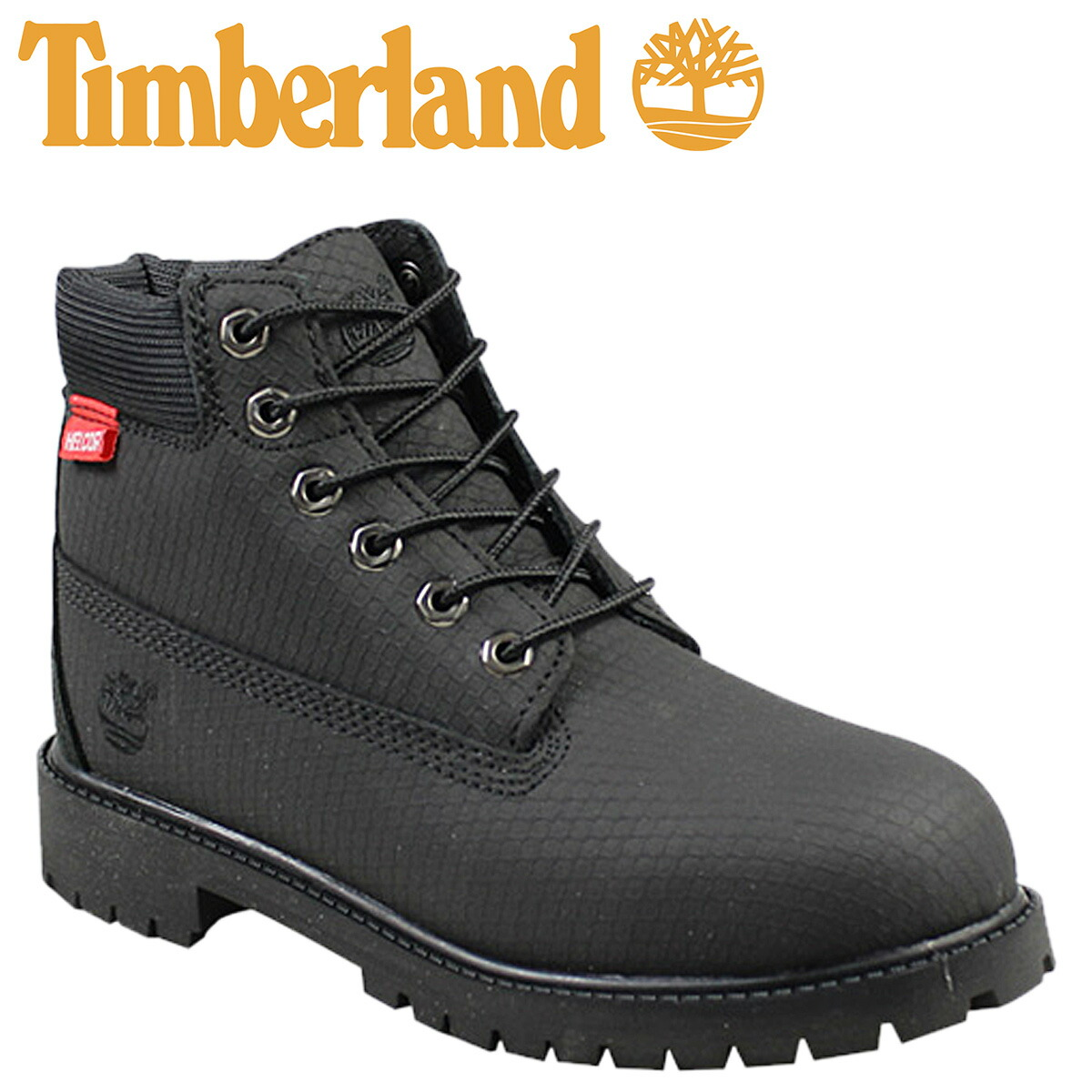 6 inches of Timberland Timberland kids premium waterproof boots 6 INCH PREMIUM WATERPROOF HELCOR LITTLE KIDS BOOTS leather youth child 6577R black