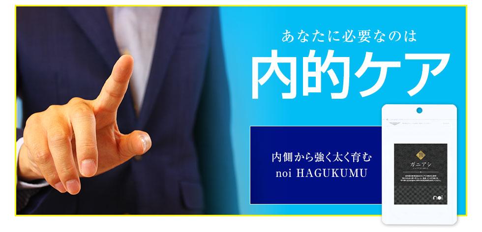 あなたに必要なのは、内的ケア。内側から強く太く育む noi HAGUKUMOU
