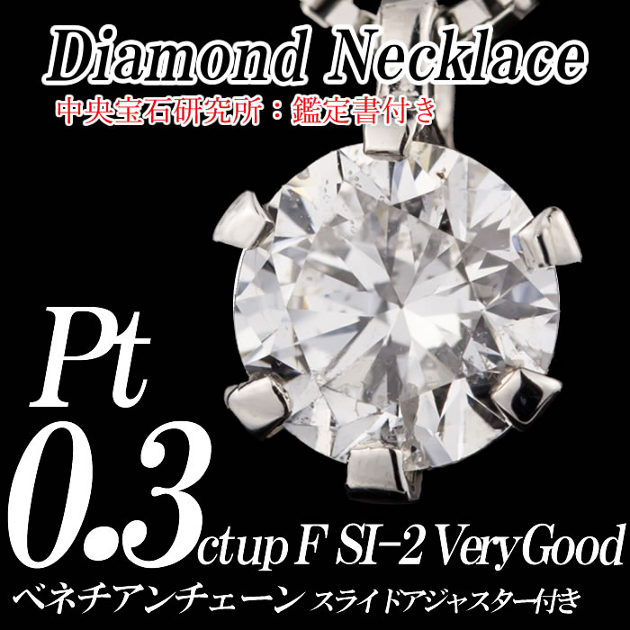 Pt900 プチダイヤモンドネックレス 0.3ct up F-color SI-2 VERY GOOD 正面画像