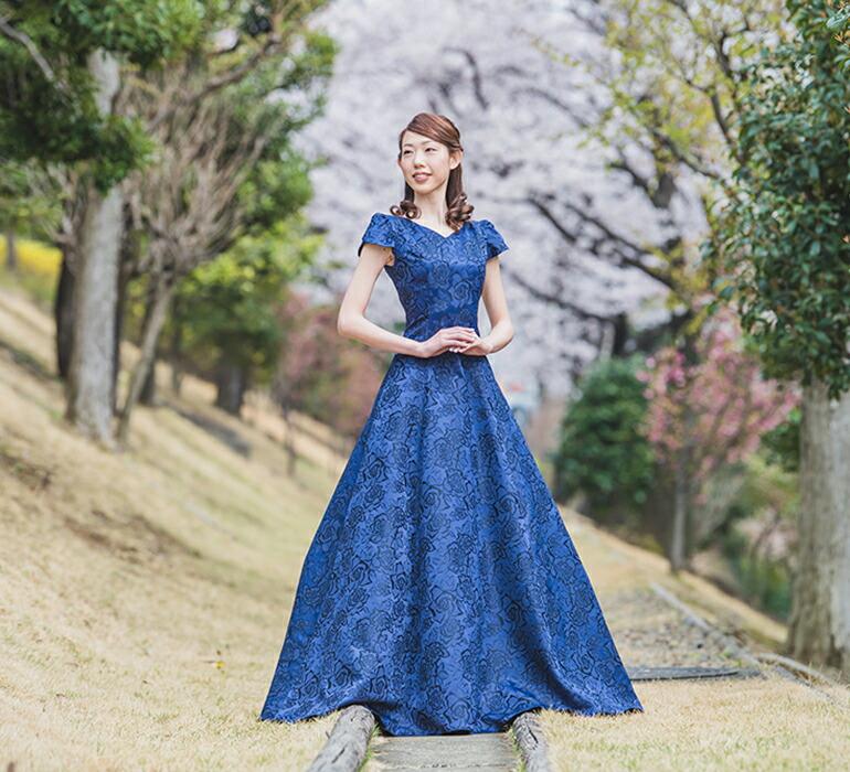 5165c4fd1d30c 結婚式 50代 発表会 大きいサイズ 20代 カラードレス 親族 ロングドレス ...