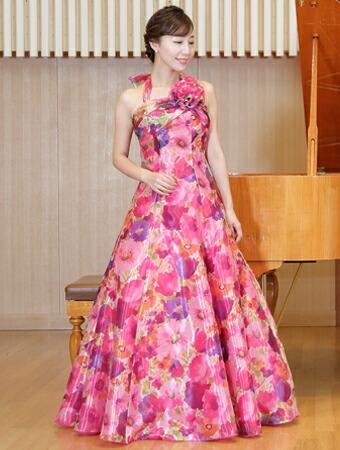 ベロアのフォーマル、演奏会用ドレス