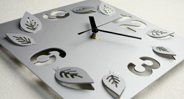 ステンレスレーザーカット掛け時計S-05「立体リーフ」