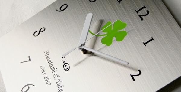 ステンレス掛け時計S-01「四つ葉」