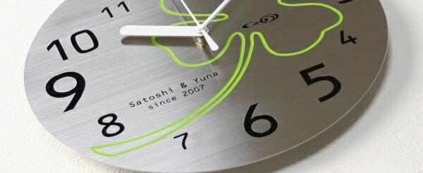 ステンレス掛け時計D-02