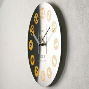 ステンレス掛け時計D-01