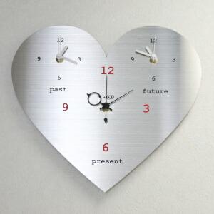ステンレス掛け時計ラブリーハート